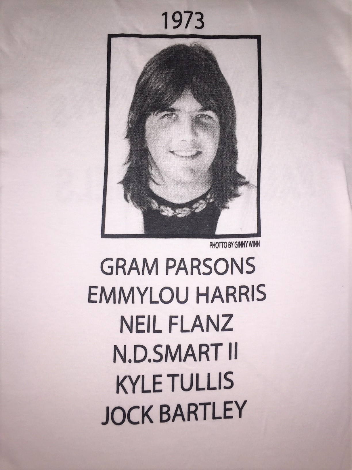 Gram Parsons Fallen Angels T-shirt back